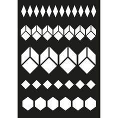 Geometry Stencils | Panduro Hobby - Stencil geometric