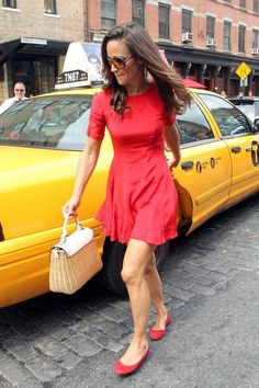 Pippa Middleton Photos Photos - HAPPY BIRTHDAY, PIPPA! Pippa Middleton celebrates her birthday in a red dress out and about in NYC. The royal sister of the Duchess of Cambridge looked to be having a nice time as she took a taxi cab around the Big Apple, stopping off at The Frick Collection to view some art. The socialite is reportedly house hunting in the New York area and has been spotted with a woman reported to be a realtor. - Pippa Middleton Celebrates in Red