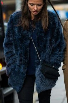 Dark blue fur