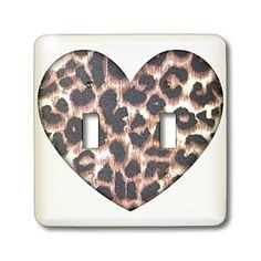 Heart Leopard Print Animal Prints Fashion - Light Switch Covers - double toggle switch