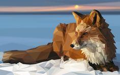 ArtStation - Fox - Low Poly Illustration, Jordi Ayguasenosa Jara