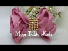 Ribbon Hair Bows, Lace Bows, Diy Hair Bows, Diy Bow, Diy Ribbon, Ribbon Work, Ribbon Crafts, Ribbon Bow Tutorial, Hair Bow Tutorial