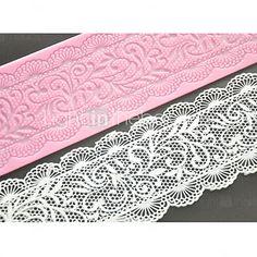 cuatro c decoración estera de encaje de silicona molde de pastel de encaje pad para hornear el pastel, la silicona colchoneta fondant 2016 - $3.59