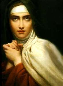 St. Teresa of Avila, Feast Day October 15th. Let nothing disturb you, Let nothing frighten you, All things are passing away: God never changes. Patience obtains all things. Whoever has God lacks nothing; God alone suffices.