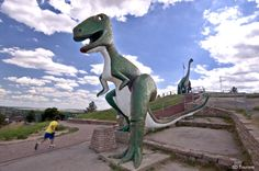 Dinosaur Park, Rapid City, South Dakota. The dinos were dedicated on May 22, 1936, on the crest of a hill overlooking the city.