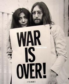 Vintage Beatles NRMT Poster John Lennon & Yoko Ono by Admatter