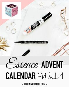 Essence Xmas Advent Calendar - Week 1 Round Up in Flatlays - http://www.joliennathalie.com/2016/12/essence-advent-calendar-week-1-round-up.html