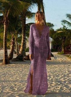 Beachwear Saida De Beach Long Swimwear Women Dress Cover Up Pareo Summer Dresses 2018 New Beach Knitted Skirt Loose Female Skirt Girls Bathing Suits, Bathing Suit Covers, Lace Bikini, Bikini Swimsuit, Long Sleeve Maxi, Knit Skirt, Boho, Sexy Dresses, Beachwear