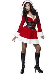 Sexy Mrs Santa Claus Outfit Womens Christmas Costume #Smiffys