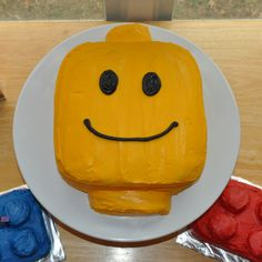 lego head cake - Google Search