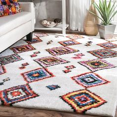 Bungalow Rose Cervantez Brown/Pink/Blue Area Rug Rug Size: Runner x Moroccan Style Rug, Moroccan Home Decor, Moroccan Furniture, Moroccan Design, Moroccan Rugs, Living Room Carpet, Living Room Bedroom, Home Carpet, Carpet Flooring