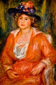 Pierre August Renoir - Portrait de Femme Assise at Louvre Museum Paris France | Flickr - Photo Sharing!