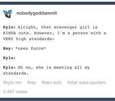 Reylo- I think Rey and Kylo are related, actually. However, if not...