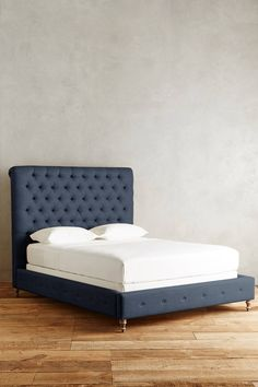 Linen Orianna Bed - in Petal - King for master bedroom - King: Unique Furniture, Bedroom Furniture, Home Furniture, Furniture Design, Unique Bed Frames, Tufted Bed, My Home Design, King Bedding Sets, Bed Reviews
