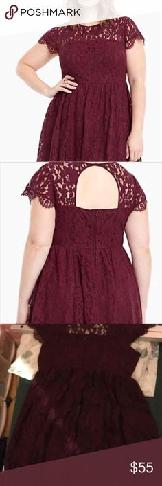 Torrid lace dress Lace dress size 18 from Torrid. This is new with tags. Has some stretch to it which is why it fit a little big. I believe this would fit a 16-20. Color is a wine color torrid Dresses Midi