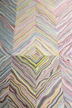 marbelous wood by snedker studio 5 Colorful FloorWall Patterns by Pernille Snedker Hansen [Video]