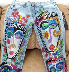 "https://flic.kr/p/eMYFAs | My New Pants | No one can have pants! These are the old pair & my new pair I just finished. But I AM Making ""Kerable"" (wearable) tee-shirts. some are in my Etsy store some are at the 4ART Inc Gallery my new 'home. In the well known Zhou B Art Center."