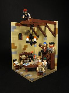 #LEGO #Vignette Jack Sparrow trying to sneak a peak at the treasure map.