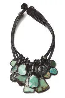 Monies: chrysoprase necklace - turquoise.