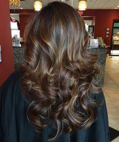 Long+Brunette+Hair+With+Golden+Highlights