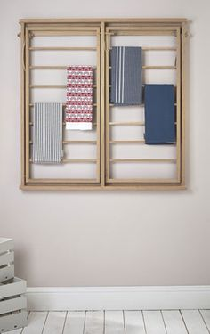 Drying rack design ideas that you can try 35 Drying Rack Laundry, Clothes Drying Racks, Clothing Racks, Clothes Hanger, Wall Mounted Clothes Airer, Wall Mounted Drying Rack, Rack Design, Laundry Room Design, Furniture Making