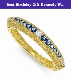 "Best Birthday Gift Kennedy White & Blue Swarovski Crystal 8in Bold Bangle. Kennedy White & Blue Swarovski Crystal 8in Bold Bangle Hinged - 18k gold-plated - Swarovski Elements - Metal Size: 0 Length: 7 Weight: 44.24 Jewelry item comes with a FREE gift box. Re-sized or altered items are not subject for a return. Kennedy White & Blue Swarovski Crystal 8in Bold Bangle Product Type:Jewelry Jewelry Type:Bracelets Stone Type_1:Swarovski Elements Stone Color_1:Multi-color"" Our gemstones are…"