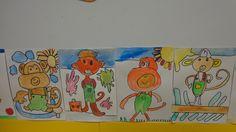 peinture guidée d'un singe octobre 2016 CP