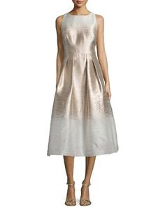 Kay unger black and gold dress
