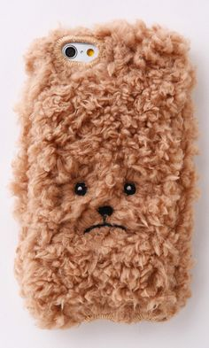 Adorable poodle phone cover case to fit snuggly around your phone - haha! #product_design