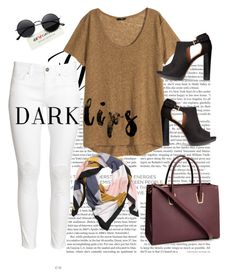 """""""H&M Dark Lips"""" by modreflectionblog on Polyvore featuring H&M"""