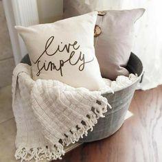 Blanket basket for the living room