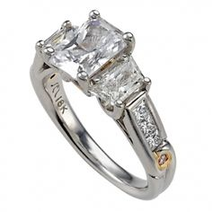Sarit Bridal Trapezoid Diamond Semi Mounting with Princess Cut Diamond Shank & Pink Diamond Accents