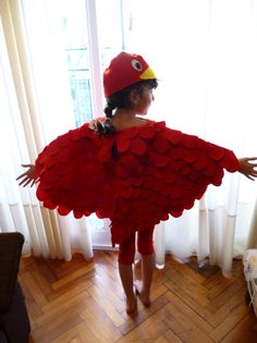 Bird costume for kids - Tutorial
