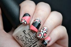 Nails by Kayla Shevonne: Leopard Print Colour Blocking Nail Art. The color combos are endless! Get Nails, Fancy Nails, How To Do Nails, Hair And Nails, Gorgeous Nails, Pretty Nails, Amazing Nails, Nice Nails, Classy Nails