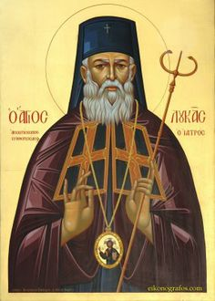 Luke Archbishop of Simferopol the Surgeon Feastday : June / May St. Luke Archbishop of Simferopol (Icon co. Religious Symbols, Religious Images, Religion, Russian Orthodox, Byzantine Icons, Churches Of Christ, Orthodox Christianity, Icon Collection, Orthodox Icons
