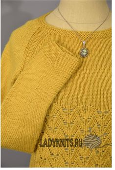 Ажурный пуловер спицами In Flight « В полете»