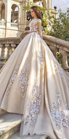 Gallery: floral applique wedding dresses via crystal desing
