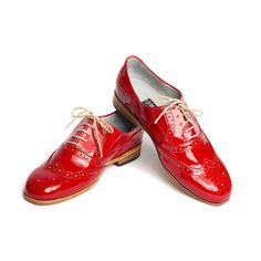 Oxfords Women's Red Patent by Goodbye Folk