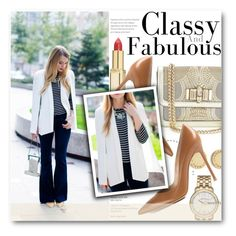 """Classy and fabulous"" by stylemoi-offical ❤ liked on Polyvore featuring L'Oréal Paris, Christian Louboutin, Gianvito Rossi, Marc by Marc Jacobs and stylemoi"