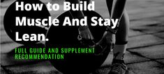 How To Build Muscle And Stay Lean – No Bullshit Article Build Muscle Fast, Muscle Power, Muscle Groups, Bullshit, Body Weight, Metabolism, How To Lose Weight Fast, Fat Burning, Burns