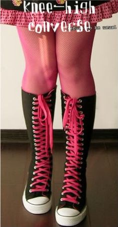 Knee high converse... Yes please!
