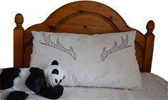 Reindeer pillowcase Screen print Christmas gift 'made by Erinnies, £12.00