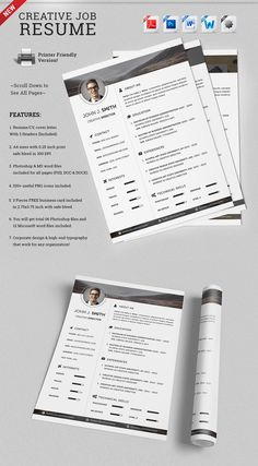 hipster resume cv   cover letter   cover letters  hipster and    check out creative job resume cv template by snipescientist on creative market