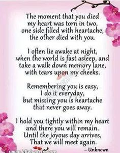 Miss u so much everyday, i love u so much Mema, you were truly a lady, with so much wisedom.. Can't wait to see u again, love u to the moon and back!