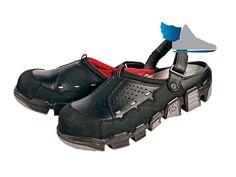 Kvalitné, komfortné, čierne pracovné sandále, obuv bez kovových súčastí.