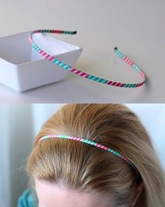 Make a simple washi tape headband