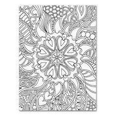 """Trademark Art """"Mixed Coloring Book 61"""" by Kathy G. Ahrens Graphic Art on Wrapped Canvas Size: 47"""" H x 35"""" W x 2"""" D"""