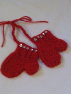 Crocheted Mitten Ornament