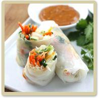 Dinner recipes like these Shrimp Fresh Rolls