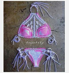 Gorgeous big breasted blonde woman posing in sexy seductive lace bikini swimwear. Pinterest Crochet, Bikini Crochet, Knit Crochet, Lace Bikini, Crochet Crafts, Crochet Projects, Crochet Bathing Suits, Swimwear Cover Ups, Bikini Swimwear
